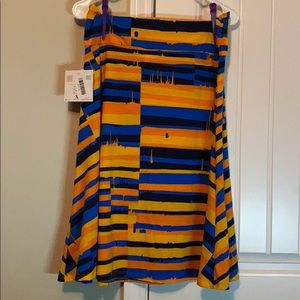 Lularoe Azure blue and Orange skirt